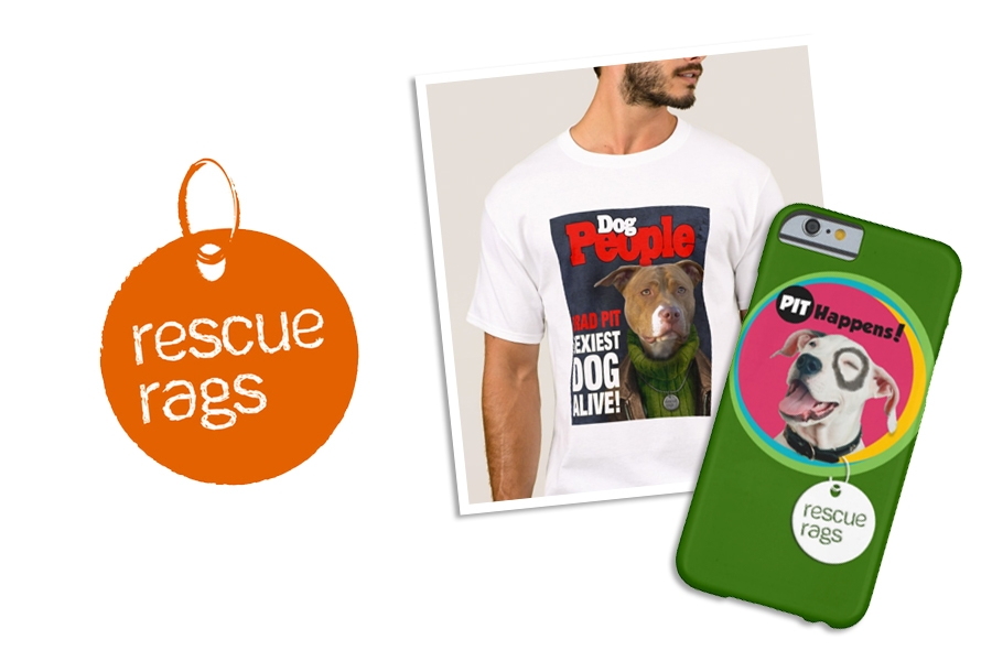 7- RESCUE RAGS - dog rescue logo and art/packaging